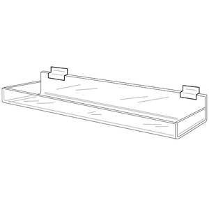 Clear Slatwall Tray with Lip and Closed Ends, 11.75
