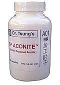 Dr. Tsung Chinese Herbal Supplement A01 SP Aconit (améliorer les symptômes de l'arthrite, la douleur chronique, migraine) * 加工 附子