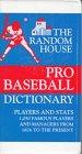 img - for Random House Pro Baseball Dictionary book / textbook / text book