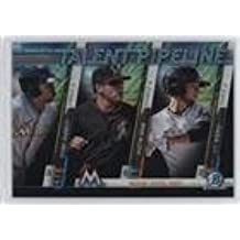 Stone Garrett; Austin Dean; J.T. Riddle (Baseball Card) 2017 Bowman - Chrome Talent Pipeline - Mega Box #TPM-MIA