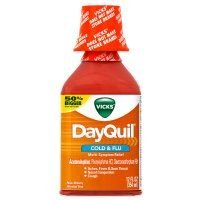 Vicks Dayquil Cold & Flu Relief Liquid, 12 Ounce (Pacak of 12)