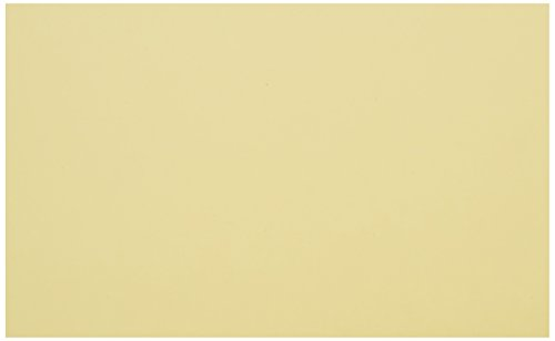 UPC 885634002633, School Smart Heavyweight Plain Index Cards - 5 x 8 inches - Pack of 100 - Canary