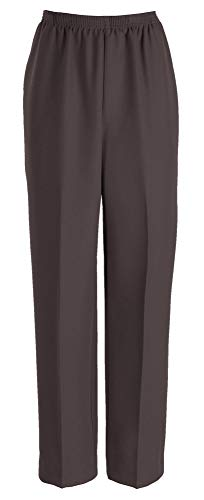 Alfred Dunner Misses Classics Pull-On Pants, 8 Short, Brown
