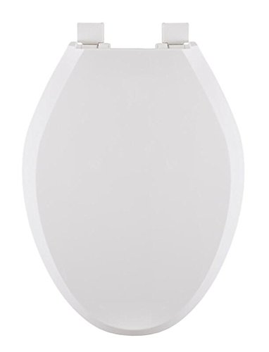 Centoco 4200WH Closed Front with Cover Regular Duty Top Mount Plastic Hinge, Elongated, White by Centoco