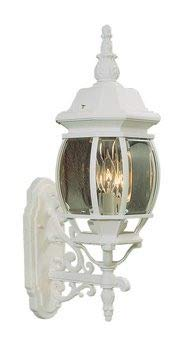 Livex Lighting 7524-03 Frontenac - Three Light Exterior Lantern, White Finish with Clear Beveled Glass