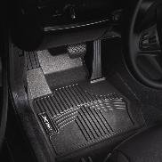 OEM BMW All Weather Rubber Floor Liners / Black-Front, F30 xDrive (AWD) 3-series sedans ()