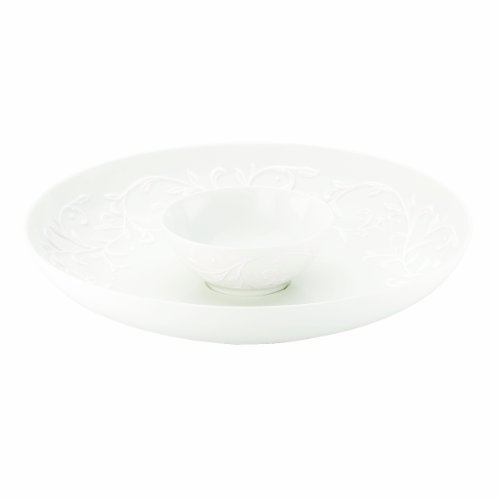 Lenox Opal Innocence Carved 12-Inch Chip and Dip