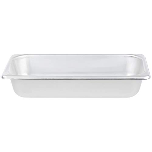 TableTop King S12062 Super Pan Heavy-Duty 1/3 Size Anti-Jam Stainless Steel Steam Table/Hotel Pan - 2 1/2
