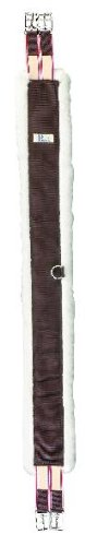 Perri's Nylon Fleece Girth, Brown, 50-Inch ()
