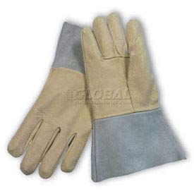 PIP Mig Tig Welder's Gloves, Top Grain Pigskin, Split Leather Cuff, Left Hand Only, M (75-320/M/LHO)