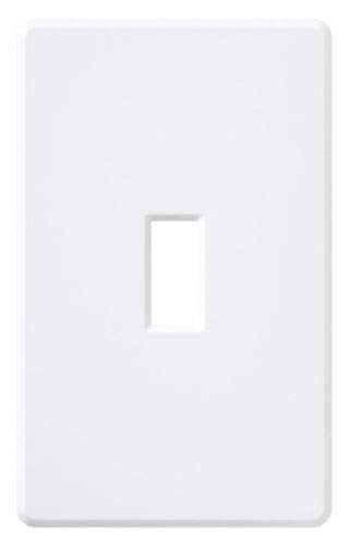 (10 pc) NEW Screwless Wallplate Toggle Cover White Wall Plates