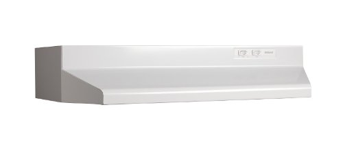 Broan 423001D Under-Cabinet Range Hood with Damper, 190 CFM 30-Inch, White from Broan