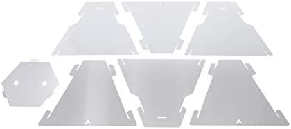 FENNEK Hexagon Brasero Mobile démontable et enfichable en Acier Inoxydable L'original. Protection Design