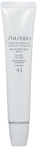 Shiseido Urban Environment Tinted UV SPF 43 Protector Broad Spectrum for Face, No. 2, 1.10 Ounce