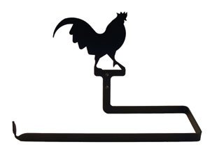 PT-B-1 Rooster Paper Towel Holder Horizontal Wall Mount