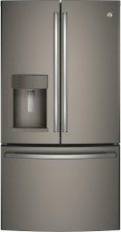 "GYE22HMKES Slate 36"" Energy Star Freestanding Counter Depth French Door Refrigerator with 22.2 cu. ft. Capacity, (Slate)"