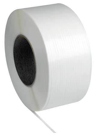 "Pac Strapping Machine Grade Polypropylene Strapping, 1/4"" W x 18000' L, 8"" x 8"" Core"