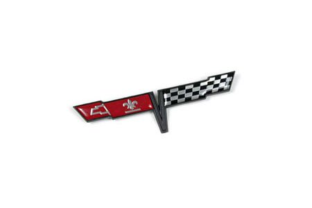 Keen Parts C3 Corvette Gas Door Emblem Crossed (Fuel Door Emblem)