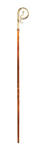 Christian Brands Church Supply SB5701 Pastoral Staff & Crozier with Wood Handle by Christian Brands Church Supply