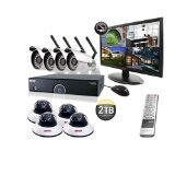 REVO America R165WB4ED4EM21-2T 16 CH 2 TB DVR Surveillance System with 4 Wireless Bullet Cameras, 4 Wired Dome Cameras and Monitor (Black) Review
