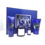 CURVE KICKS by Liz Claiborne for Men 4 pc. Gift Set, (Cologne Spray 4.2 oz + .5 oz Spray + Hair & Body Wash 3.4 oz + Skin Soother 4.2 oz)