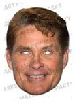Partyrama David Hasselhoff Cardboard Celebrity Party Mask - Single - David Hasselhoff Fancy Dress Costume
