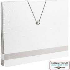 "Martha Stewart Shagreen Accordion File 10 Pockets - 13"" x 10"" (White)"