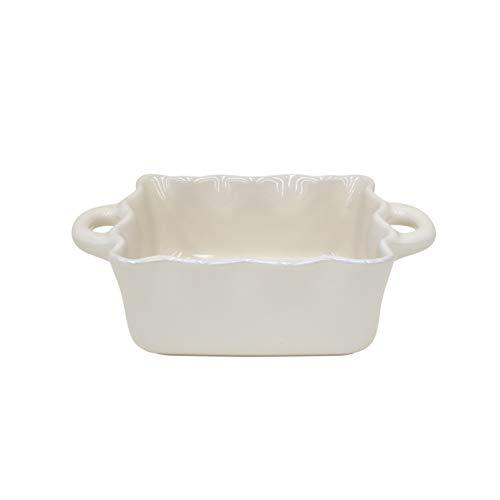 Casafina Stoneware Ceramic Dish Cook & Host Collection Square Baker Casserole, 9.5