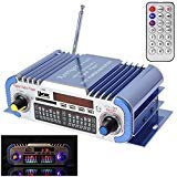 - SallyBest® 2 Channels Mini Hi-Fi Digital Motorcycle Auto Car Stereo Power Amplifier Sound Mode Audio Music Player Support USB FM SD DVD MP3