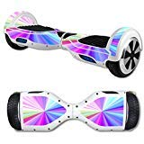 MightySkins Skin Compatible with Self Balancing Mini Scooter Hover Board - Rainbow Zoom | Protective, Durable, and Unique Vinyl Decal wrap Cover | Easy to Apply, Remove | Made in The USA
