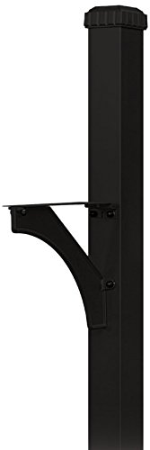 Salsbury Industries 4835BLK Designer In-Ground Mounted Decorative Mailbox Post, Black