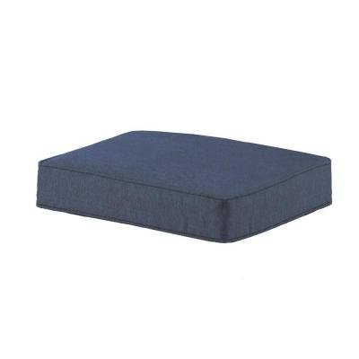 Hampton Bay Spring Haven Blue Ottoman (Hampton Bay Cushions)