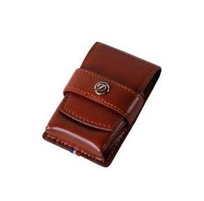 Elysee Ligne 2 Brown Leather Lighter Case
