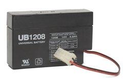 UPG Sealed Lead-Acid Battery - AGM-type, 12V, 0.8 Amps, Model# UB1208 [Misc.] ()