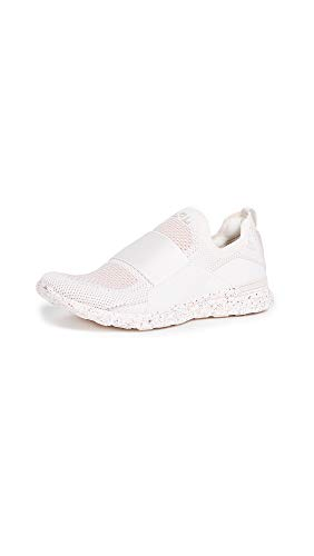 APL: Athletic Propulsion Labs Women's Techloom Bliss Sneakers, Sea Salt/Rose Dust/Salmon, Off White, Pink, 10.5 M US