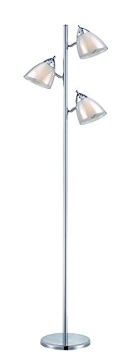 Lamp Shade Acrylic Floor (Lite Source Floor Lamps LSF-81615A/WHT Selika II 3-Lite Floor Lamp with White Acrylic Shade, 8
