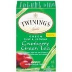 Twinings Cranberry Green Tea (3×20 ct) For Sale