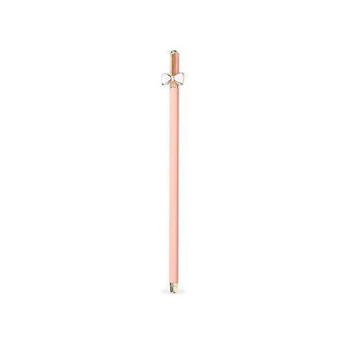 Bow Pen - Zhi Jin 1Pc Candy Color Pens Rollerball Refill Gel Black Ink 0.5mm Ballpoint Pen School Office Supplies Gift-Pink