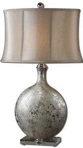 (Uttermost 27428 Navelli Lamp, Metallic Silver Ceramic Base, Slver)