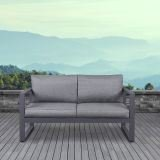 Real Flame 9624-GRY 9624 Baltic Love Seat, Grey