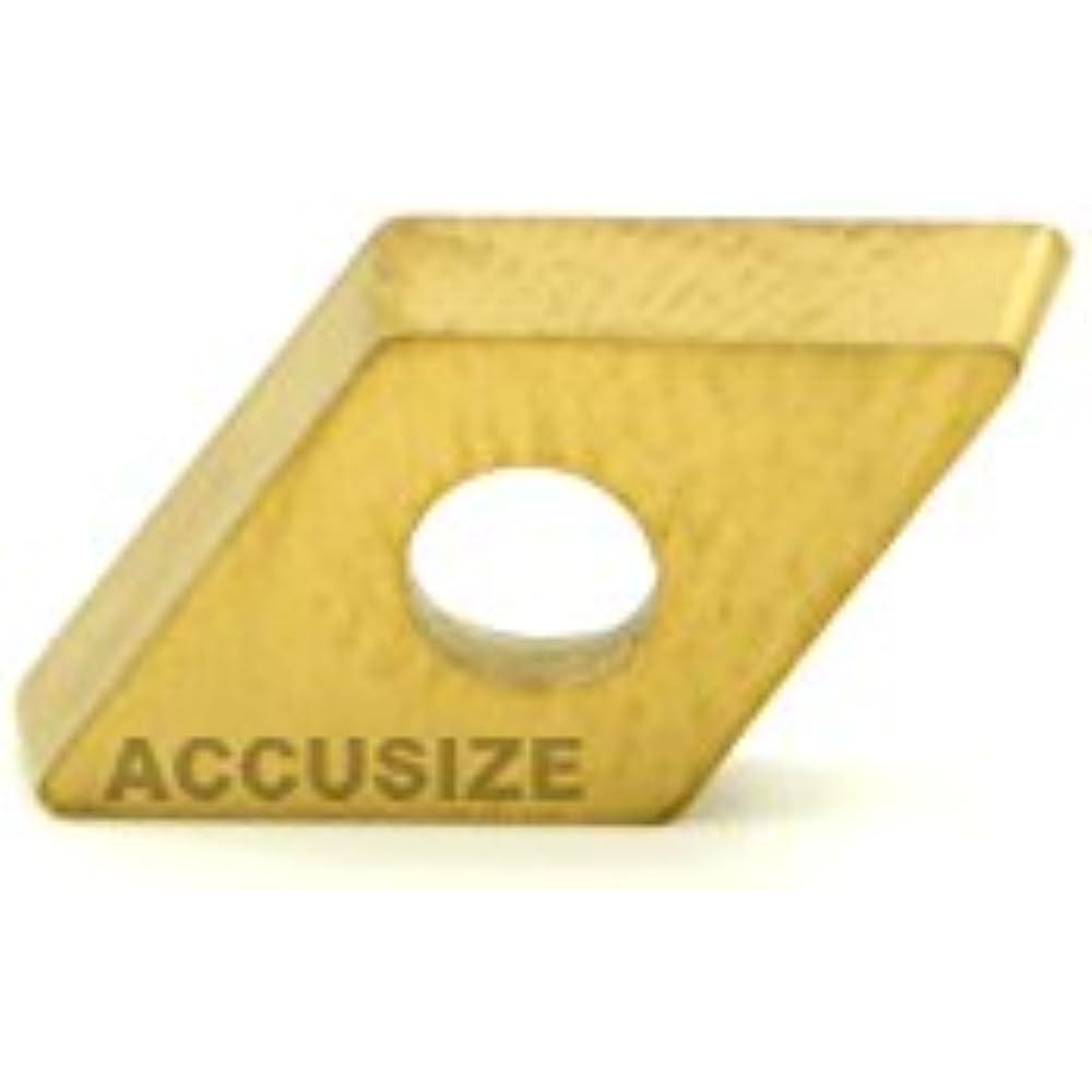 AccusizeTools 2104-1010x10 DCMT21.51 Carbide Inserts TiN Coated 10 Pcs//Box