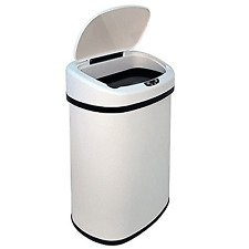 13-Gallon Touch Free Trash Can Bedroom Outdoor by BestOffice
