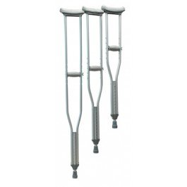 Lumex Universal Aluminum Crutches - Lumex Universal Aluminum Crutches, Tall, Latex-Free - Case of 8 by Lumex (Image #1)