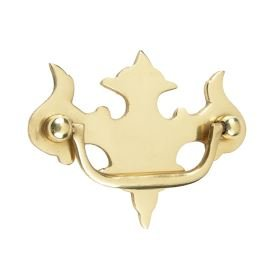 Fleur De Lys Cabinet/Cupboard Handle - Solid Brass - 89mm - Supplied with fixtures and fittings Black Country Metal Works