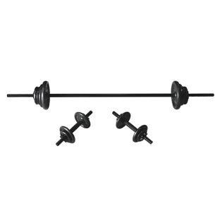 Fitness Pro fundido barra y mancuernas - 35 kg.: Amazon.es: Deportes y aire libre