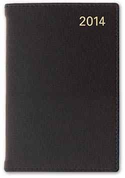 Letts of London 33E-2018 Sterling Mini Pocket Week To View Diary Leather Cover (Black)