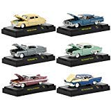 Auto Thentics 6 Cars Set Release 51 in Display Cases 1/64 Diecast Model Cars by M2 Machines 32500-51