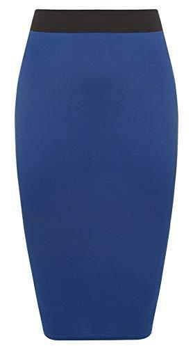 Crayon Jupe Grande Purple Taille Taille Midi Tube Moulante Elastique Bleu Roi Femme Hanger FqxUOxw5t