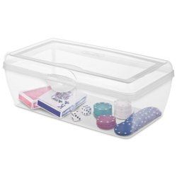 Clear Snap Top - Large Flip Top Storage Box, Clear