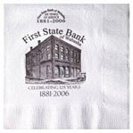 White 3-Ply Luncheon Napkins - 500 napkins - Custom Printed by PLX Industries